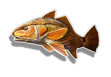 Redfish Red Fish Sticker Cup Laptop Car Truck Boat Fishing Window Bumper Decal