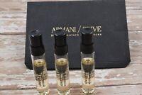 Giorgio Armani Prive Myrrhe Impériale 2 ml lot x 3 Eau De Parfum EDP Vials