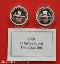 1989 TERCENTENARY OF THE BILL & CLAIM OF RIGHTS SILVER PROOF £2 TWO POUND COIN