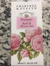 Crabtree & Evelyn Rosewater Bath & Shower Gel 10.1Oz/ 300ml  NEW IN BOX