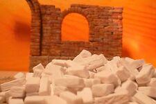 Modellbau, Landschaftsbau, Mauersteine, Ziegel, Backsteine 1,5x0,7x0,5cm 400 St.