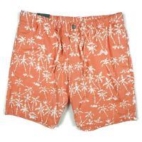 "Bonobos Mens Print Beach Shorts Size 34 7"" Inseam Batik Palms Himalayan Salt"