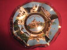 Disneyland Vintage 70's Sleeping Beauty's Castle Ruffled Glass Candy Dish