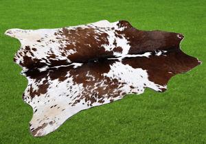 "New Cowhide Rugs Area Cow Skin Leather 8.75 sq.feet (36""x35"") Cow hide U-5784"