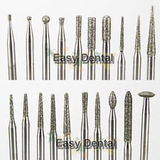 20pcs HP Diamond Burs Kit Low Speed Tooth Drill 2.35mm Dental Lab