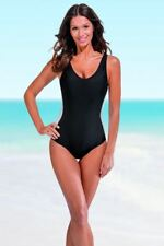 Slimming Swimsuit With Secret Support Black or Blue Swimming Costume Size 14-20