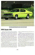 1970 Plymouth Duster 340 Article - Must See!!