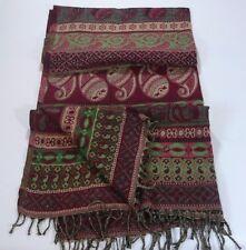 COPERTA scialle indiano lana acrilica Gettare reversibile motivo etnico boho