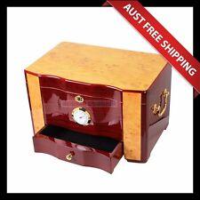 Attawood Cigar Humidor, 100+ Brown Cedar Cigar Cabinet, Humidifier Hygrometer