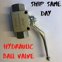 Hydraulic ball valve BSPP high pressure Isolating Shut Off Lever 2 way nitrile