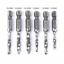 Spiral Flute Hss Combination Countersink Screw Tap Drill Bit Set 1/4