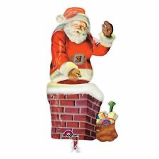 Giant 4ft Santa Waving Chimney Balloon Christmas Festive Decoration Office Party