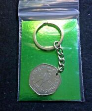Battle of Hastings - 50 Pence Coin KEYRING - 2016 Birthday - Anniversary  gift.