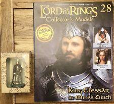 El Señor De Los Anillos Edición 28-rey Elessar en Minas Tirith figura & Revista
