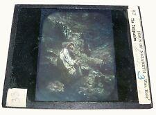 "Magic Lantern Glass Slide - Religious - (85) Jesus of Nazareth ""The Temptation"""