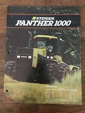 Steiger Panther 1000 Four Wheel Drive Tractor Brochure Farm Advertising Trifold