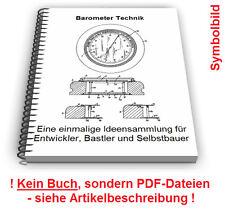 Barometer selbst bauen - Barograph Aneroid Dosenbarometer Technik Patente