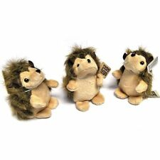 Pack of 3 Small Hedgehog Soft Toys - Plush Stuffed Animals