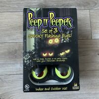 Halloween Peep n' Peepers Set of 3 Spooky Flashing Eyes Indoor & Outdoor NIB