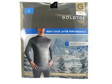 GOLDTOE Mens Base Layer Performance Long Sleeve Crewneck White Size Large New