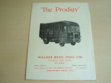 "WALKER BROTHERS PAGEFIELD ""THE PRODIGY"" REFUSE TRUCK BROCHURE MARCH 1946 DUSTBIN"