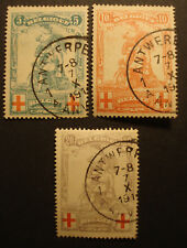 Belgien 1914: Satz Rotes Kreuz, MN 104-06, sauber gestempelt - Prachterhaltung