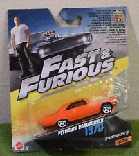 MATTEL 1:55th SCALE DIE-CAST FAST & FURIOUS 2/32 PLYMOUTH ROADRUNNER 1970
