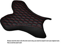 HEX RED STITCH CUSTOM FITS YAMAHA 1000 YZF R1 04-06 FRONT LEATHER SEAT COVER