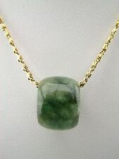 Genuine Natural Green Jade Pendant Barrel Bead #282