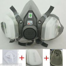 7 in 1 Suit Painting Spraying Facepiece Respirator For 3M N95 603 6200 Dust Mask