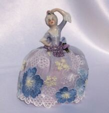 RARE Antique German Porcelain Half Doll, Tiny Lady Pincushion Collectible Doll