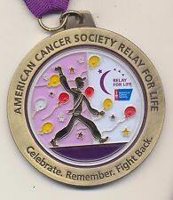 American Cancer Society Survivor Relay For Life Medal Pendant Necklace Lanyard