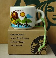 Starbucks City Mug Cup You are here Series YAH Ornament Bulgaria 2oz NEW