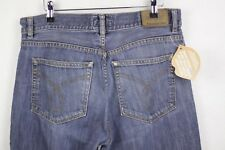 CK Mens CALVIN KLEIN Jeans STRAIGHT Fit BUTTON Fly STONEWASHED W32 L32 P77