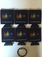 6 Rainbow Pride Collapsible Koozies With Free Bracelet!  $14.95