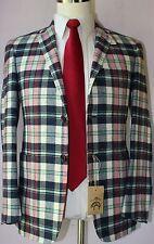 Brooks Brothers Black Fleece Pure CashmereThree Button Plaid Sport Coat BB0 36 S