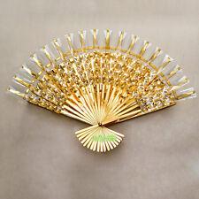 LED Wall Lamp For Home Folding Fan Bracket light Bedroom Sconces Fixtures Golden