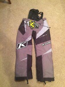 FREE S&H NWT Klim Kaos Mens L Snowmobile Pants Non Current Gray black