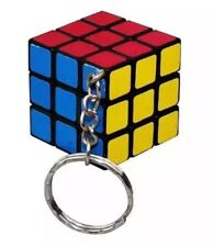 Rubix Cube Puzzle Keychain Toy 3x3x3cm Playable US Seller