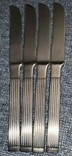 (4) Set of Four THEBE Dansk Indonesia Stainless Steel  Dinner Knives Flatware