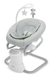 Graco Baby Soothe My Way 3-Position Recline Swing Seat w Removable Rocker Madden