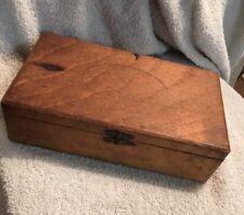 Antique 1900- 1940 Wood Cigar Box Boite Nature State Beauties Type 1 Ball Pivot