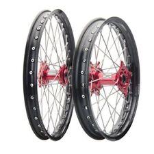 Honda CR125R CR250R CRF250R CRF450R Tusk Impact 21/18 F/R Black/Red Wheel Kit