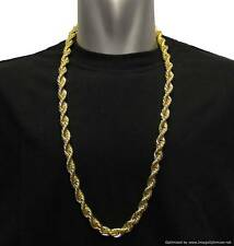 """Gold Plated Run DMC Hip Hop Rope Chain Dookie Chain 10mm x 30"""" FILLED RRP £19.99"""