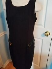 calvon klein faux leather accent dress 10.   #797