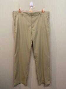 adidas Golf Men's Size 38 x 31 Khaki Climalite 3-Stripes Tech Pant