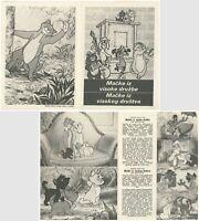 THE ARISTOCATS Original MINT RARE exYU Movie Program 1970 WALT DISNEY ANIMATION