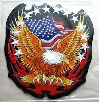 Rückenaufnäher USA Eagle Flames 21 x 23,5 cm Banner Adler Flammen Backpatch
