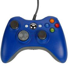 2X New USB Wired Controller for Microsoft Xbox 360 Game PC Windows 7 Blue