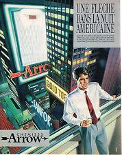 PUBLICITE ADVERTISING 025  1984  ARROW   chemises homme